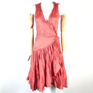 French connection dress ruffled